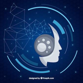 Kunstmatige intelligentieachtergrond in abstracte stijl