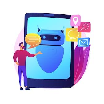 Kunstmatige neurale netwerktraining. algoritme verwerking. spraakherkenning, identiteitsverificatie, informatieverwerking. humanoïde cyborg. geïsoleerde concept metafoor illustratie.
