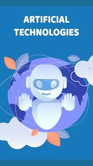 Kunstmatige technologie flyer, brochure template
