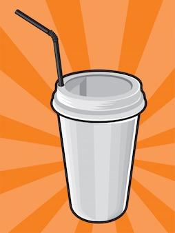 Kunststof koffiekopje