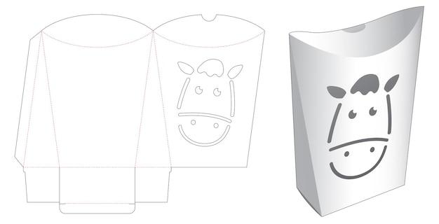 Kussenverpakking met gestanst sjabloon met paardengezicht
