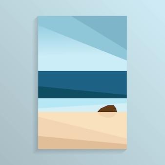Kust zeezicht op het strand van de tropische oceaan wit s