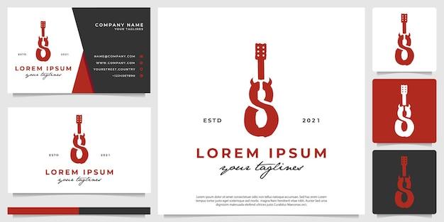Kwaad gitaar logo vintage modern minimalistisch