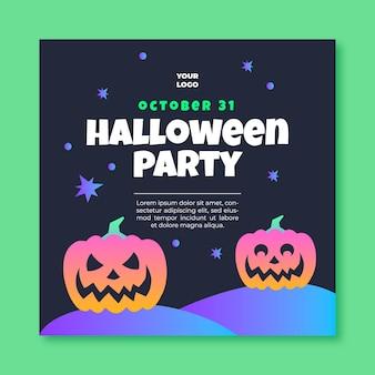 Kwadraat flyer-sjabloon voor halloween
