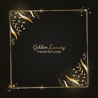 Kwadraat realistisch gouden luxe frame