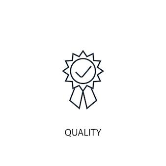 Kwaliteit concept lijn icoon. eenvoudige elementenillustratie. kwaliteit concept schets symbool ontwerp. kan worden gebruikt voor web- en mobiele ui/ux
