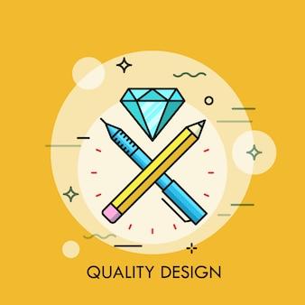 Kwaliteit ontwerp dunne lijn illustratie