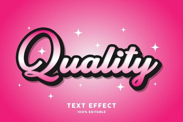 Kwaliteit - teksteffect, bewerkbare tekst