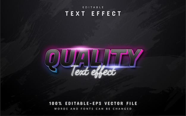 Kwaliteits verloop neon teksteffect