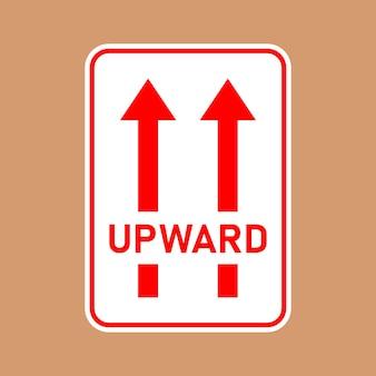 Kwetsbare pakketpictogrammen met zorg omgaan met logistiek en leveringsverzendlabel