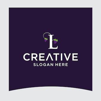 L druif logo ontwerp