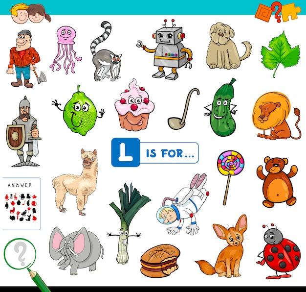 L is voor educatief spel voor kinderen