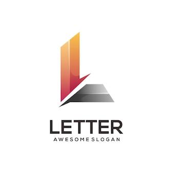 L letter logo kleurrijke abstract