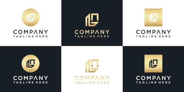 L monogram logo goud