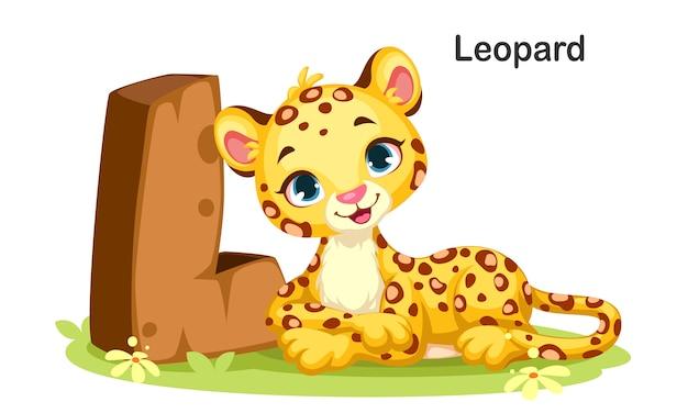 L voor leopard