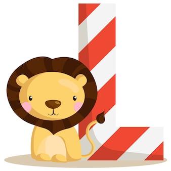 L voor lion