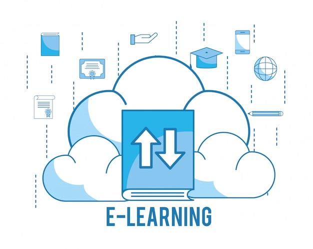 Laad cloud met afstudeeropdracht en onderwijsboek