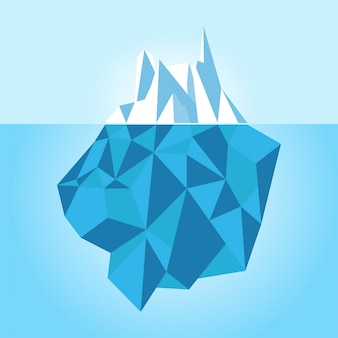 Laag poly ijsberg