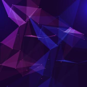 Laag poly verbindingen abstract ontwerp