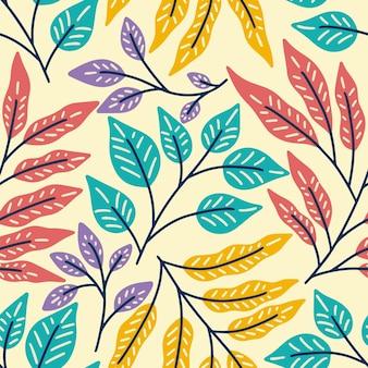 Laat bloemen natuur naadloze patroon