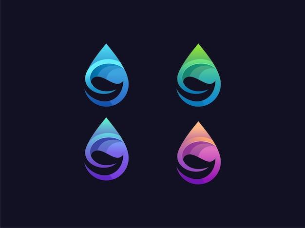 Laat drop-gradiënt logo-collecties achter