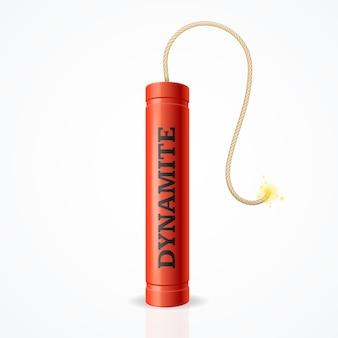 Laat een dynamietbom tot ontploffing brengen. risico op sterke explosie.