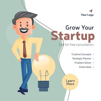 Laat het ontwerp van uw startende bedrijfsbanner groeien