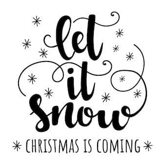 Laat het sneeuwen