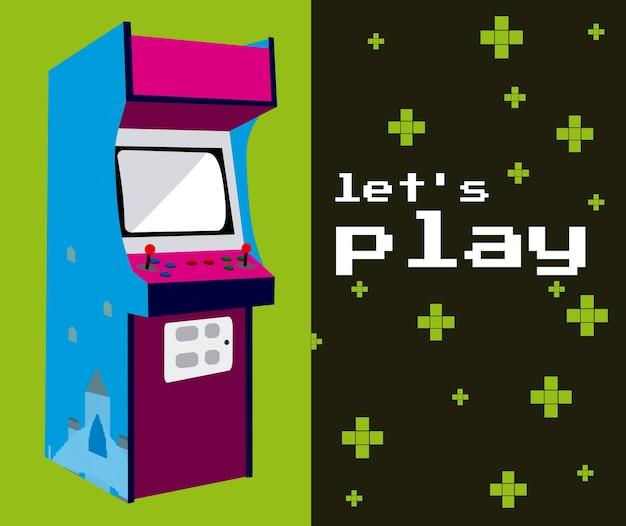 Laat spelen arcade kleurrijk