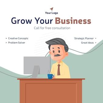 Laat uw bedrijf groeien met het ontwerp van een consultatiebanner