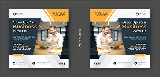 Laat uw bedrijf groeien met ons bedrijfsbureau en moderne creatieve webbannersjabloon