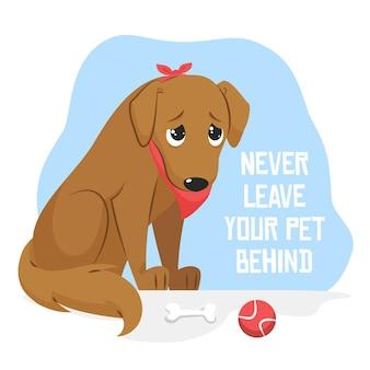 Laat uw huisdier nooit achter