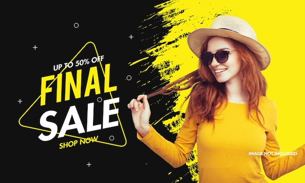 Laatste mode verkoop banner promotionele moderne achtergrond