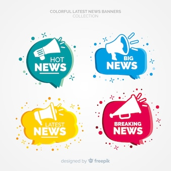Laatste nieuws banner collectie