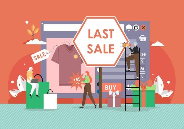 Laatste verkoop. retail online winkel.