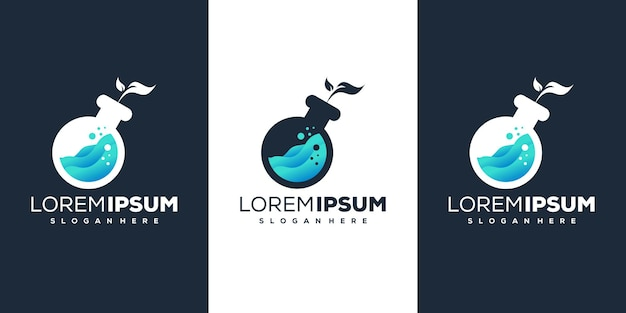 Lab blad logo ontwerp