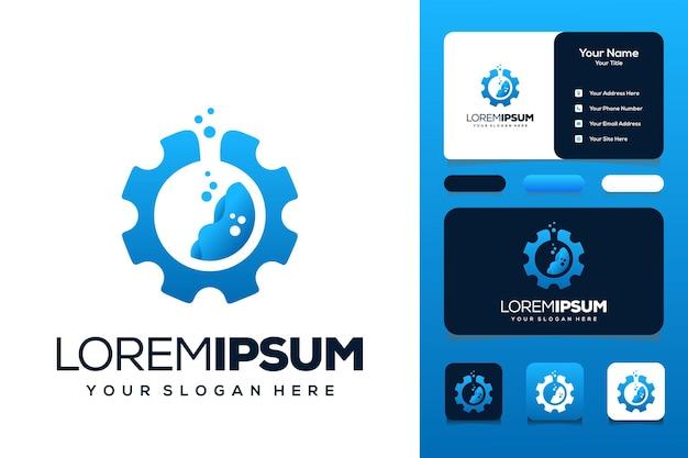 Lab gear logo ontwerp visitekaartje