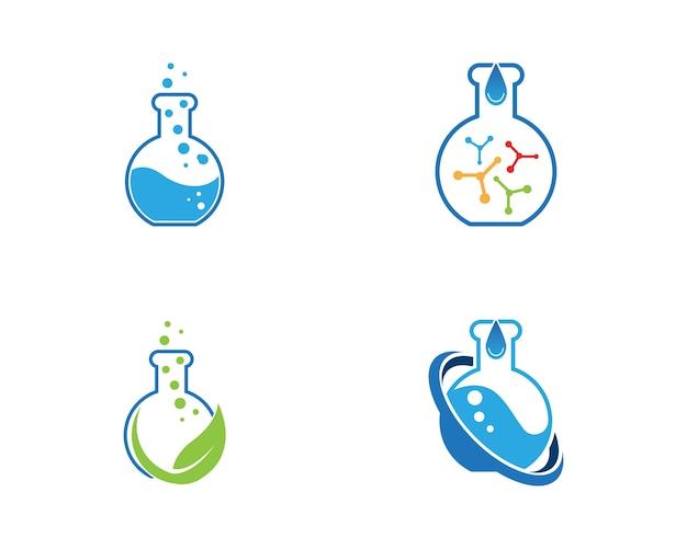 Lab logo vector sjabloon