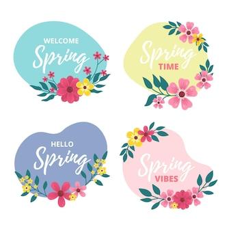 Label collectie voor de lente