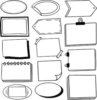 Label en frames doodle collectie