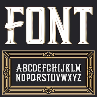 Label lettertype met ornament