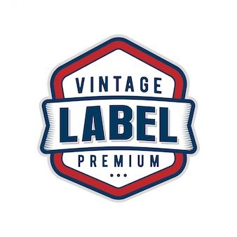 Label logo vintage stijl minimalistisch design voor product eten en drinken, café restaurant moderne klassieker, merkidentiteit ontwerp.