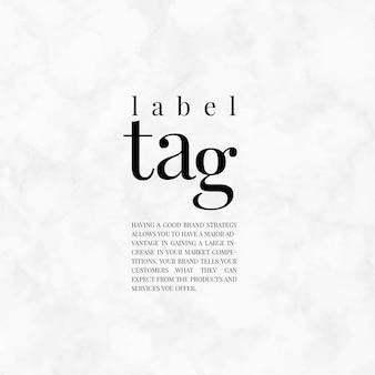 Label tag merk sjabloonontwerp