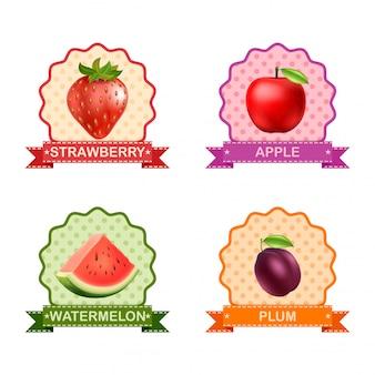 Label voor fruit
