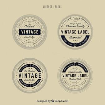 Labelcollectie met vintage stijl