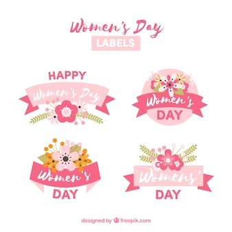 Labelcollectie van vier voor vrouwendag