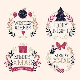 Labelcollectie voor kerstmis