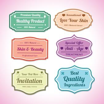 Labelontwerp voor producten of uitnodiging