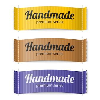 Labels handgemaakte serie