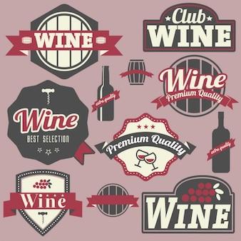 Labels wijnontwerp